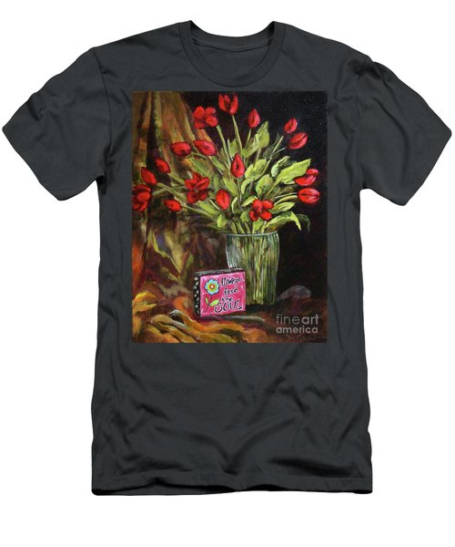 Flowers Feed The Soul Men's T-Shirt (Athletic Fit)