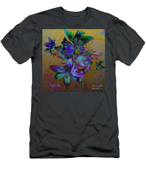 Flowers For The Heart Men's T-Shirt (Athletic Fit)