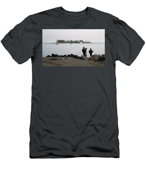 Men's T-Shirt (Slim Fit) featuring the photograph Flowers For The Lady by John Scates
