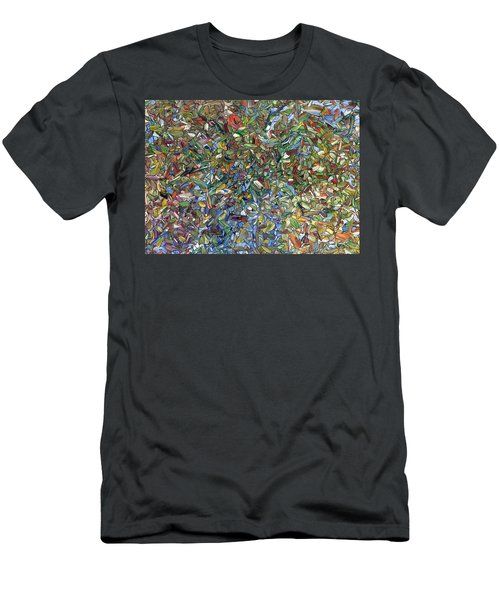 Flowers In A Blue Vase Men's T-Shirt (Athletic Fit)