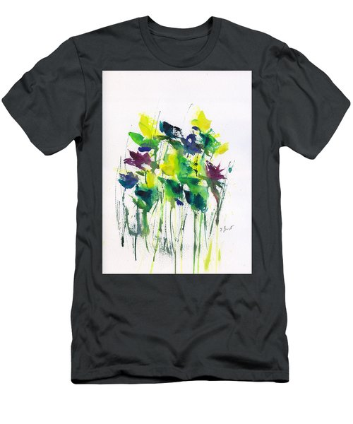 Flowers In Grass Abstract Men's T-Shirt (Athletic Fit)