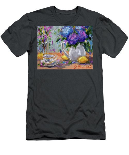 Flowers Lemons Men's T-Shirt (Slim Fit) by Jennifer Beaudet