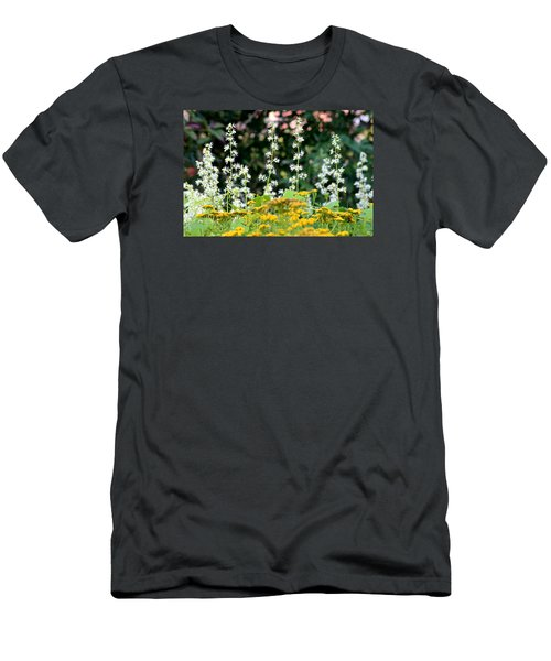 Flowers Sparkling Above The Tansies Men's T-Shirt (Slim Fit)