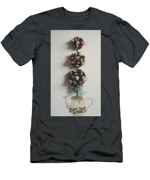 Flowery Teapot Men's T-Shirt (Athletic Fit)