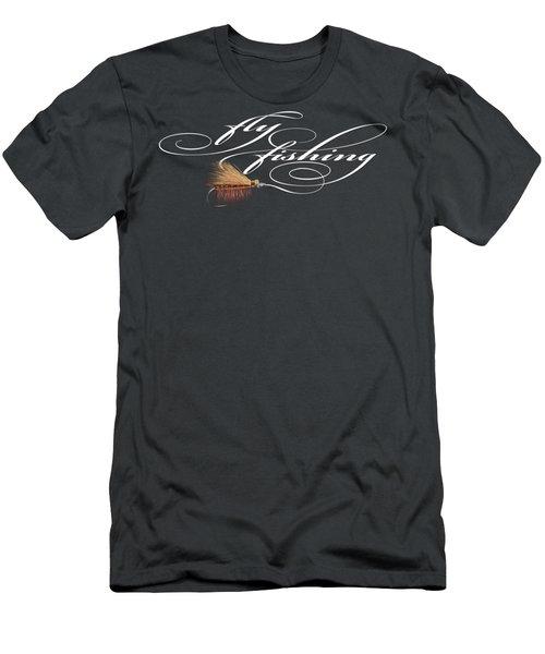 Fly Fishing Elk Hair Caddis Men's T-Shirt (Slim Fit) by Rob Corsetti