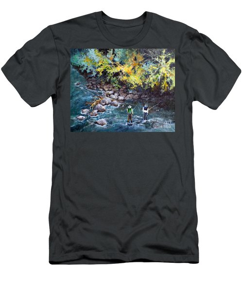 Fly Fishing Men's T-Shirt (Slim Fit)