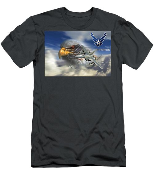 Fly Like The Eagle Men's T-Shirt (Slim Fit) by Ken Pridgeon