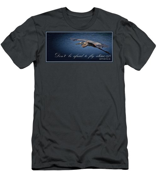 Flying Alone Men's T-Shirt (Slim Fit) by Pamela Blizzard