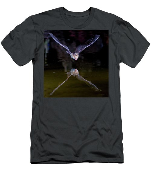 Flying Bat With Reflection Men's T-Shirt (Athletic Fit)