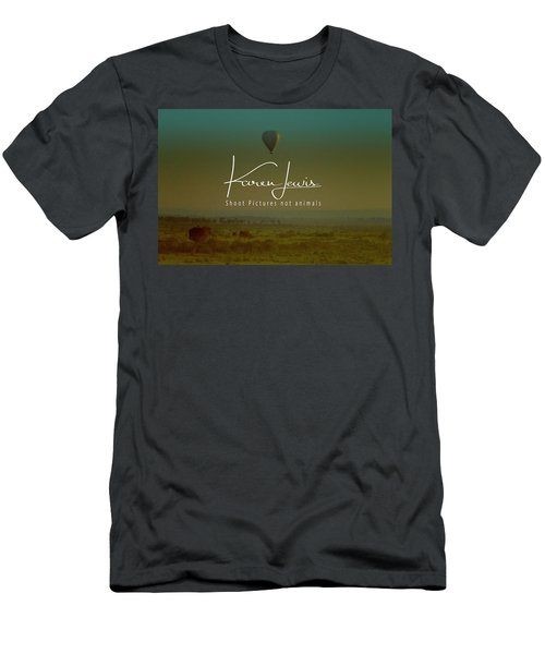 Men's T-Shirt (Slim Fit) featuring the photograph Flying High On The Masai Mara by Karen Lewis