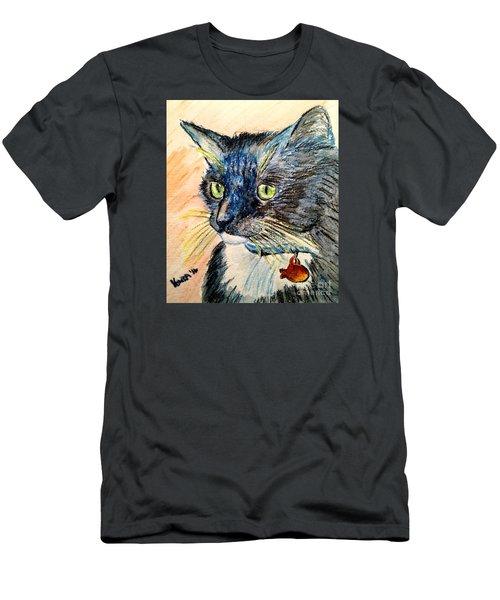 Men's T-Shirt (Slim Fit) featuring the mixed media Focus Intent by Vonda Lawson-Rosa