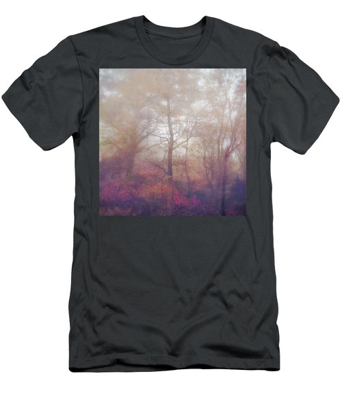 Fog In Autumn Mountain Woods Men's T-Shirt (Athletic Fit)