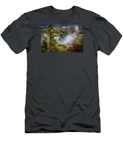Fog In The Valley Men's T-Shirt (Slim Fit) by Diana Boyd