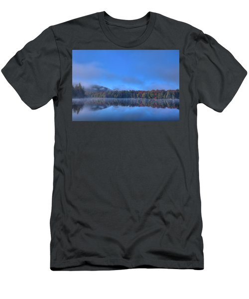 Men's T-Shirt (Athletic Fit) featuring the photograph Fog Lifting On West Lake by David Patterson
