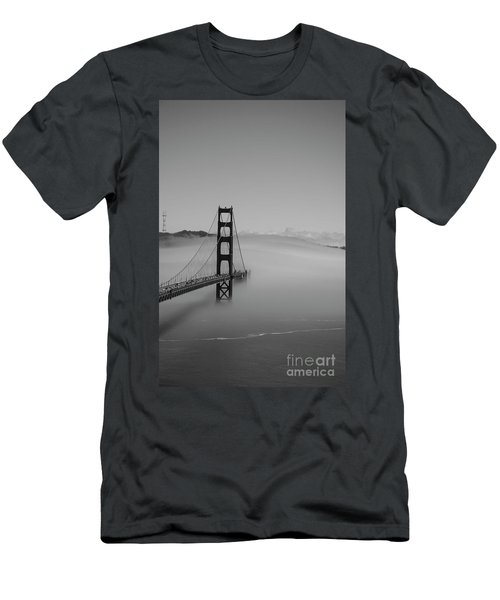 Men's T-Shirt (Slim Fit) featuring the photograph Fogging The Bridge by David Bearden
