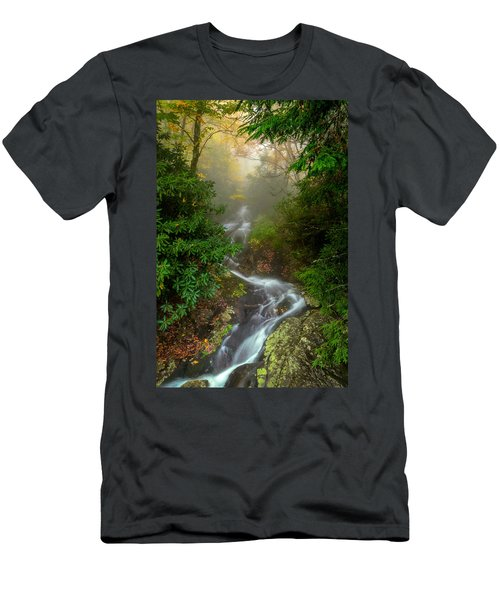 Foggy Autumn Cascades Men's T-Shirt (Athletic Fit)