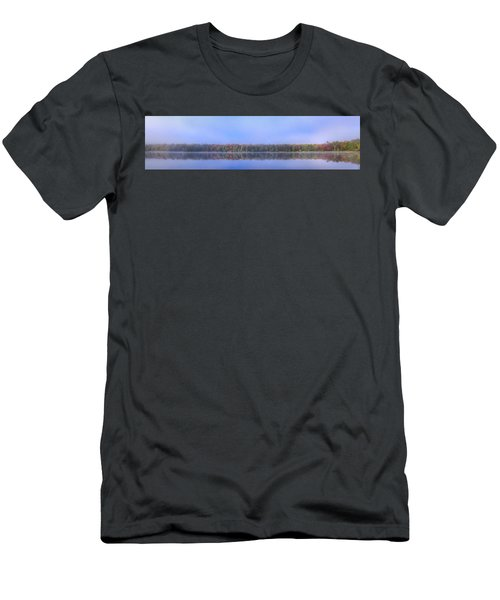 Men's T-Shirt (Athletic Fit) featuring the photograph Foggy Autumn Panorama by David Patterson