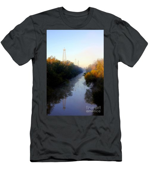 Foggy Fall Morning On The Sabine River Men's T-Shirt (Slim Fit)
