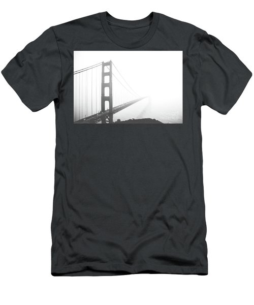 Men's T-Shirt (Slim Fit) featuring the photograph Foggy Golden Gate Bridge  by MGL Meiklejohn Graphics Licensing
