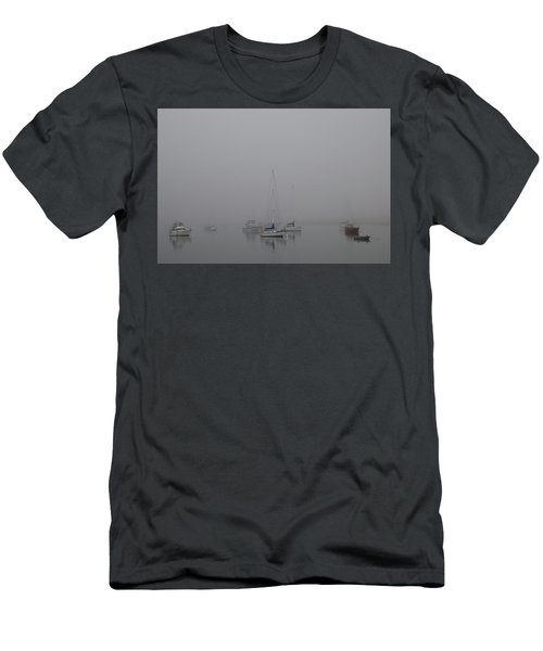 Waiting Out The Fog Men's T-Shirt (Slim Fit) by David Chandler