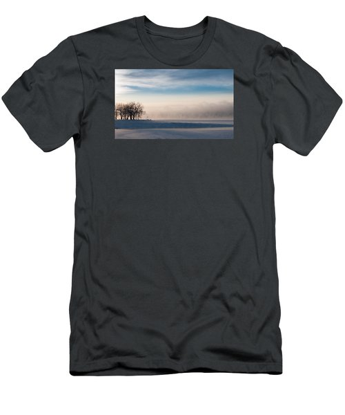 Men's T-Shirt (Slim Fit) featuring the photograph Foggy Morning At Lake Loveland by Monte Stevens