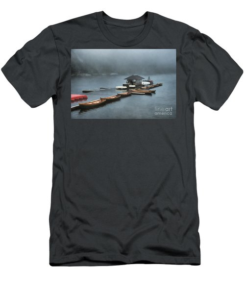 Foggy Morning At The Lake  Men's T-Shirt (Athletic Fit)