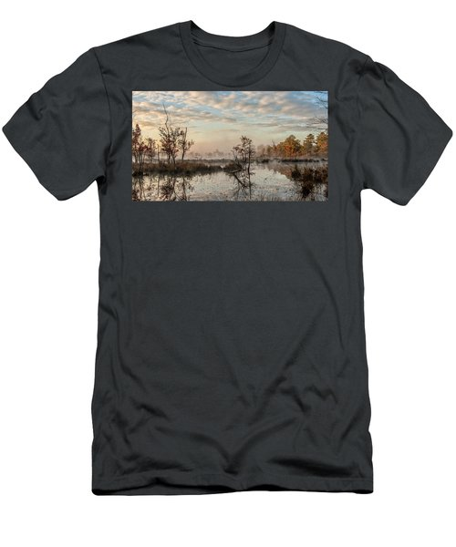Foggy Morning In The Pines Men's T-Shirt (Athletic Fit)