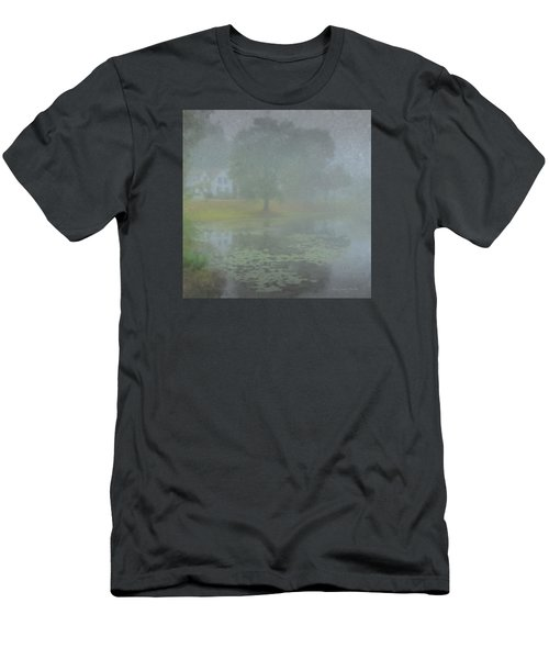 Foggy Morning On Pond Street Men's T-Shirt (Athletic Fit)