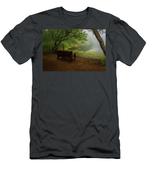 Foggy Morning On The Pond Men's T-Shirt (Athletic Fit)