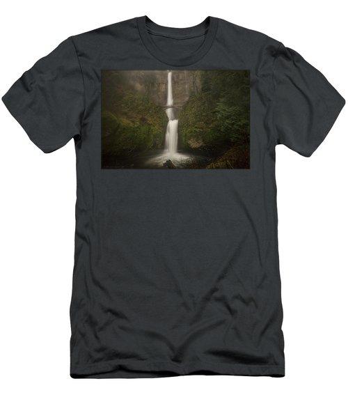 Foggy Multnomah Falls Men's T-Shirt (Athletic Fit)