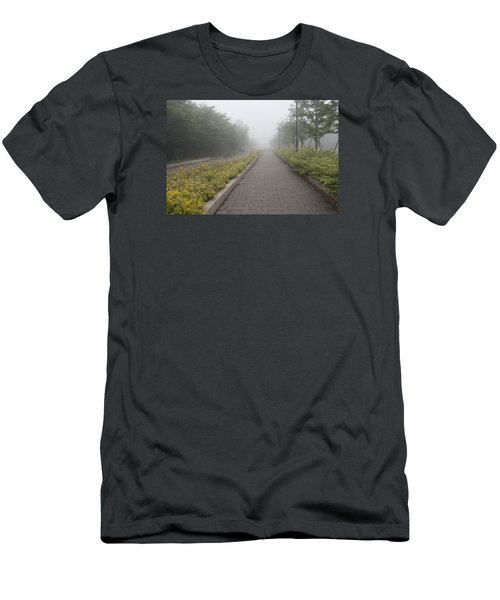 Foggy Pathway Men's T-Shirt (Athletic Fit)