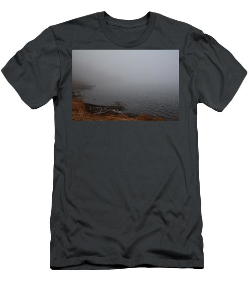 Foggy Shore Men's T-Shirt (Slim Fit) by Jenessa Rahn