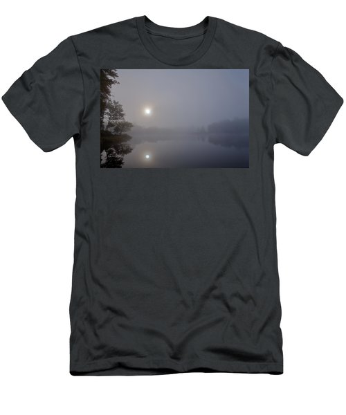 Men's T-Shirt (Athletic Fit) featuring the photograph Foggy Sunrise On West Lake by David Patterson