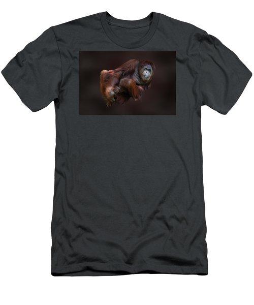 Folded Orangutan Men's T-Shirt (Athletic Fit)