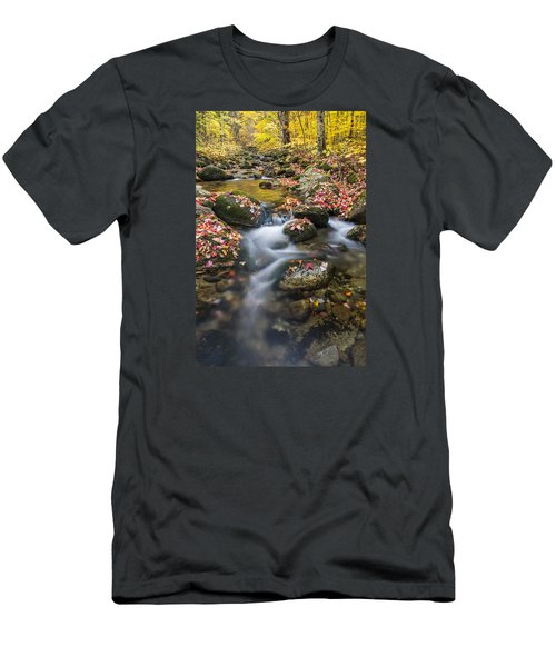 Foliage Brook Men's T-Shirt (Athletic Fit)