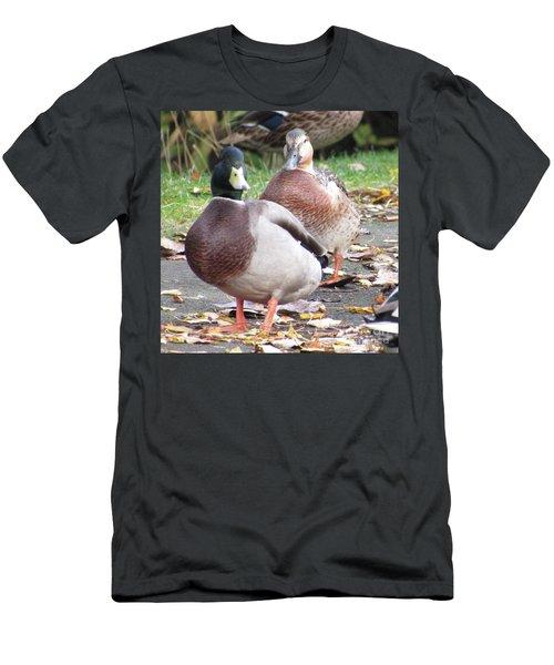 Quack..quack, Follow Me And I Follow You Later. Men's T-Shirt (Athletic Fit)