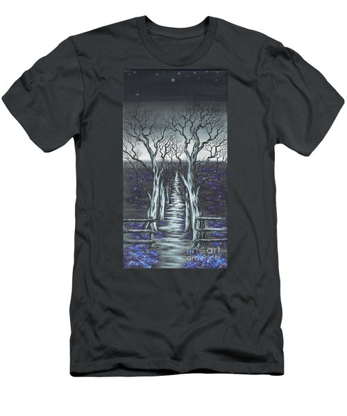 Men's T-Shirt (Slim Fit) featuring the painting Follow The Stars by Kenneth Clarke
