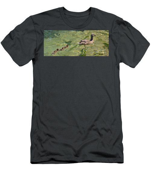 Men's T-Shirt (Slim Fit) featuring the photograph Following Mom by Pamela Blizzard
