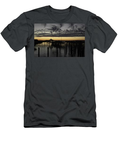 Folly Beach Dock Men's T-Shirt (Slim Fit) by Will Burlingham