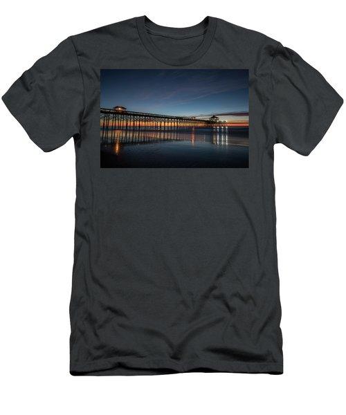 Folly Beach Pier Before Sunrise Men's T-Shirt (Athletic Fit)