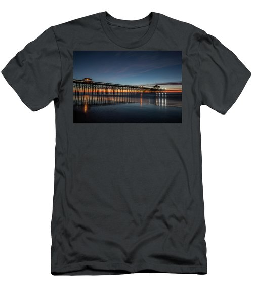 Folly Beach Pier Before Sunrise Men's T-Shirt (Athletic Fit)