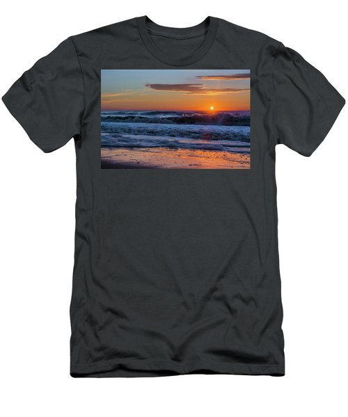 Men's T-Shirt (Slim Fit) featuring the photograph Folly Beach Sunrise by RC Pics