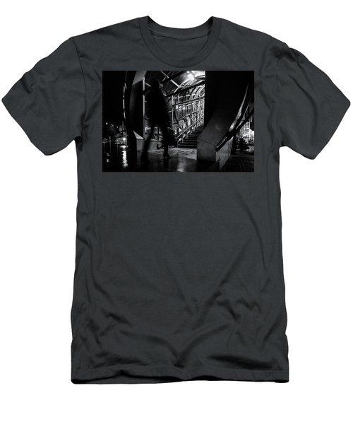 Men's T-Shirt (Athletic Fit) featuring the photograph Footbridge Blur by John Williams