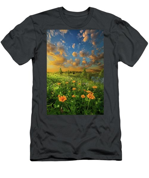 For A Moment All The World Was Right Men's T-Shirt (Athletic Fit)