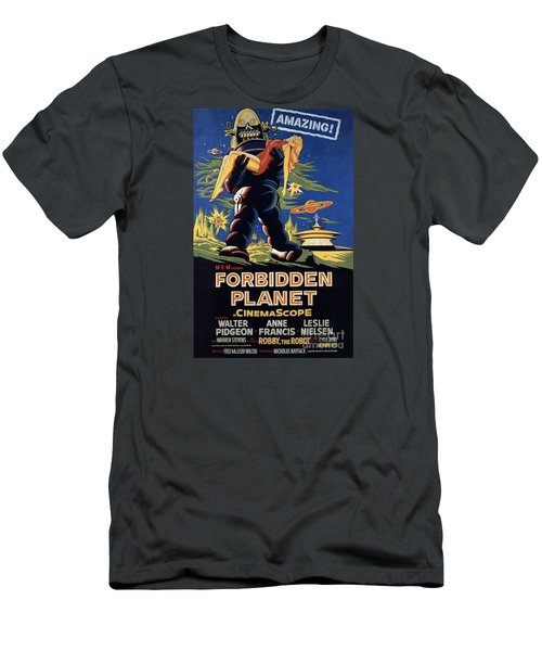 Forbidden Planet Amazing Poster Men's T-Shirt (Athletic Fit)