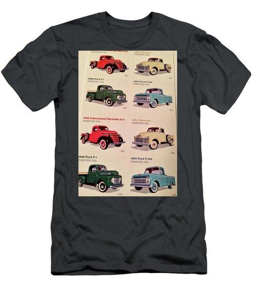 Ford Truck Stamps Men's T-Shirt (Slim Fit) by Caroline Stella