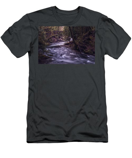 Men's T-Shirt (Slim Fit) featuring the photograph Forrest Bridge by Chris McKenna