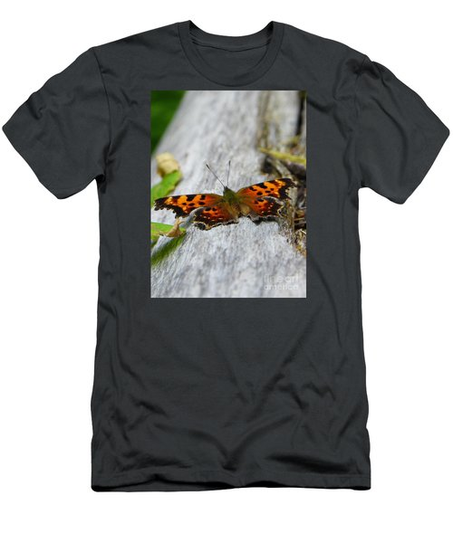Forest Fritillary Men's T-Shirt (Slim Fit) by KD Johnson