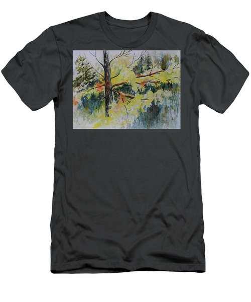 Men's T-Shirt (Slim Fit) featuring the painting Forest Giant by Joanne Smoley