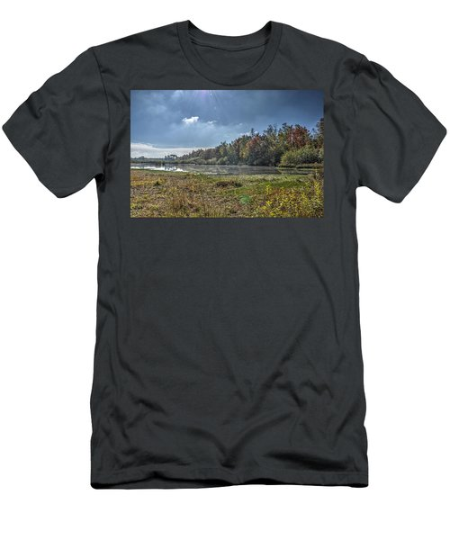 Forest Lake In Autumn Men's T-Shirt (Athletic Fit)